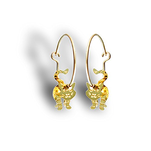 3-D Earrings. KITTIESGFV 14K Gold-filled Hoops & Beads, and Vermeil Body