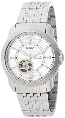 Bulova Men's 96A100 Automatic Self-Winding Mechanical Exhibition Caseback Bracelet Watch