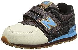 New Balance KG574I Deep Freeze Pack Classic Running Shoe (Infant/Toddler), Brown/Blue, 2 M US Infant
