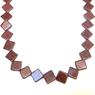 Jasper Necklace 04 Beaded Red Diamond Crystal Healing Gemstone 17