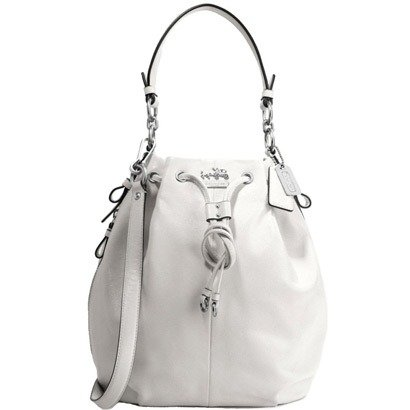 Coach Madison Leather Marielle Drawstring Tote 17016 (Parchment)