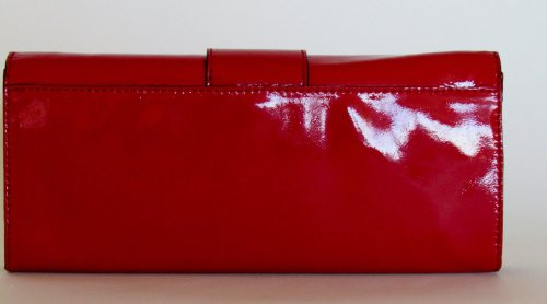 MICHAEL Michael KorsMichael Kors Sutton Clutch Patent Leather Red