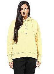 GRAIN Light Yellow Regular fit Cotton Jackets for Women