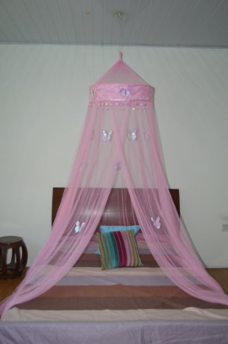 Octorose ® Butterfly Bed Canopy Mosquito NET Crib Twin Full Queen King (pink)