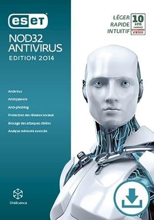 ESET NOD32 Antivirus - Édition 2014 - Monoposte - Abonnement 1 an [Téléchargement]