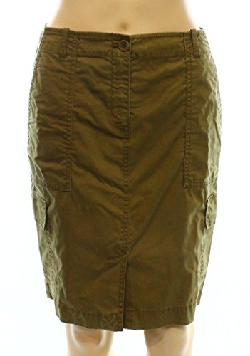 Eileen Fisher Olive Womens Petite Cargo Pencil Skirt