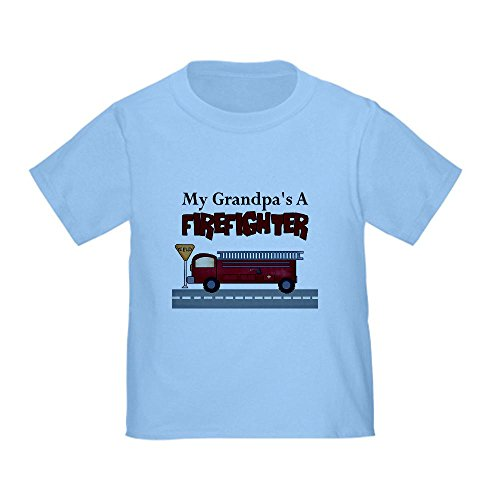 Cafepress Grandpas A Firefighter Toddler T-Shirt - 4T Baby Blue front-1054214