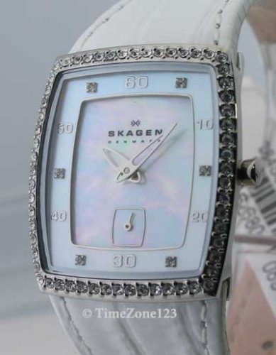 SKAGEN PEARL FACE CRYSTALS WATCH WHITE BAND 384SSLWT9 - Buy SKAGEN PEARL FACE CRYSTALS WATCH WHITE BAND 384SSLWT9 - Purchase SKAGEN PEARL FACE CRYSTALS WATCH WHITE BAND 384SSLWT9 (Skagen, Jewelry, Categories, Watches, Women's Watches, By Movement, Swiss Quartz)