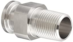 Dixon 21MP-R150200 Stainless Steel 316L Sanitary Fitting, Clamp Adapter, 1-1/2\
