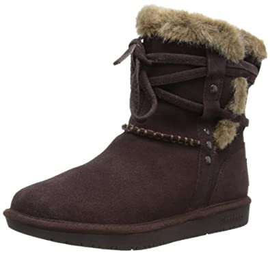 Skechers Women's Shelbys-Short Ankle Boot,Chocolate,6 M US