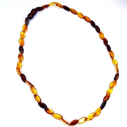 The Silver Plaza Natural Healing Overlapping Baltic Amber Necklace