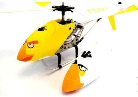 DUSIEC New Hot Sell Angry Bird Remote-Controlled RC Helicopter,Comes with One Extra Body Yellow