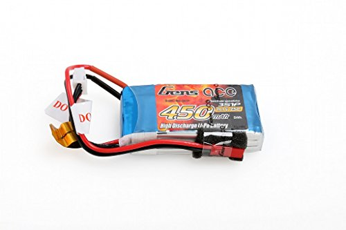 Gens ace 450mAh 11.1V 25C 3S1P Lipo Akku Pack for FPV Racing Quadcopters Diverse Racing Cars, Helikopter, Flugzeuge und Modellboote
