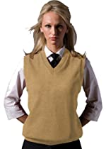 Ed Garments Sleeveless V-Neck Durable Sweater Vest, KHAKI, Medium