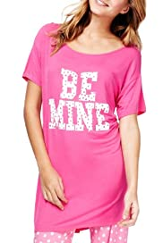 Scoop Neck Be Mine Pyjama Top [T37-5626-S]