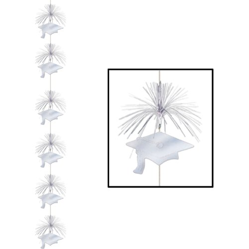 Grad Cap Firework Stringer (silver) Party Accessory  (1 count) (1/Pkg)