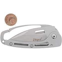 Jäger Taschenmesser mit Clip Kompakt Klappmesser Outdoor Wander Messer