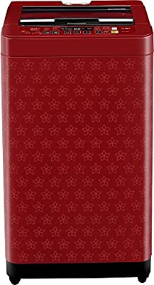Panasonic NA-F70H6FRB Fully-automatic Top-loading Washing Machine (7 Kg, Red Flower Pattern)