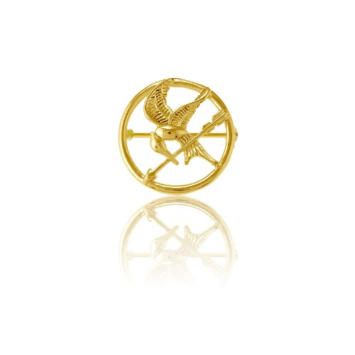 Sterling Silver The Hunger Games-inspired Gold-Plated