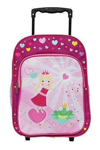 Idena-2-in-1-Kinder-Rucksack-Trolley-Prinzessin-mit-Frosch-Kindergepck-14-Liter-Rosa