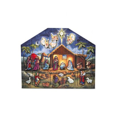 Byers Choice Nativity Wooden Advent Calendar