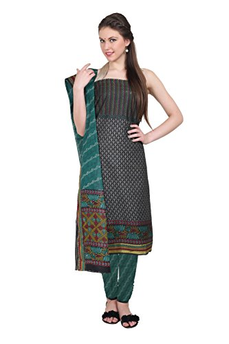Aryahi Women's Cotton Dress Material (70441_Black ...