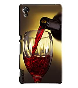 Omnam Red Wine In Glass With Bottle Printed Designer Back Cover Case For Sony Xperia Z4
