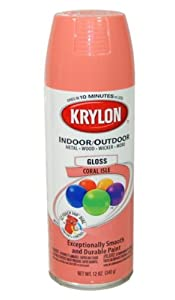 Krylon Coral Isle Spray Paint 5 Ball Decorator Aerosol Paint