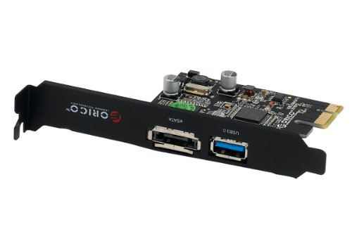 ORICO PNU3539-U3E Super Speed PCI Express to USB3.0 & eSATA Combine Host Controller Card Adapter Card with NEC Renesas Chip (1xUSB3.0 & 1xeSATA)