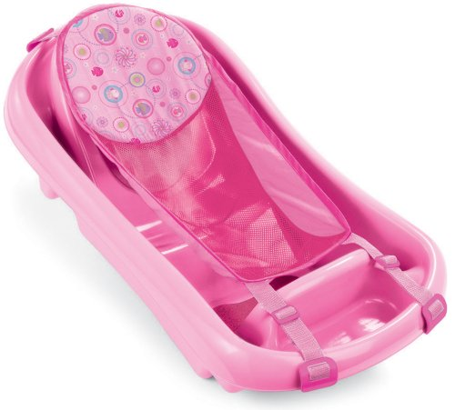 The First Year's Infant To Toddler Tub with Sling Pink