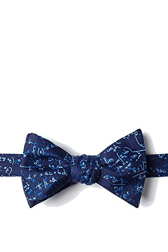 Mens Blue Microfiber Math Mathematics Equations Butterfly Self Bow Tie