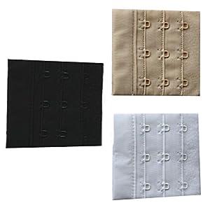 BH-Verlängerung 3er Set Farbe weiss schwarz puder 6,5cm