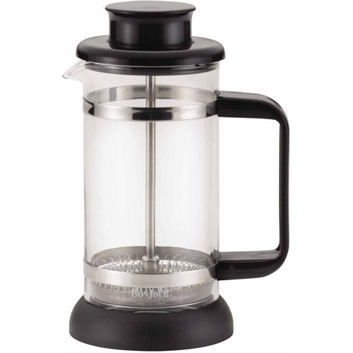 BonJour Coffee and Tea 3-Cup Riviera French Press with Coaster and Scoop, Black