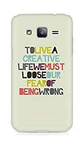 Amez designer printed 3d premium high quality back case cover for Samsung Galaxy J2 (To Live Creative Life)