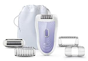 Philips SatinSoft HP6527 Wet and Dry Epilator with Shaving Attachment