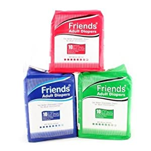 Friends Adult Diapers SIZE:L|Qty:10