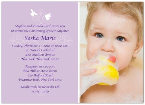 Baptism Invitations Photo front-272768