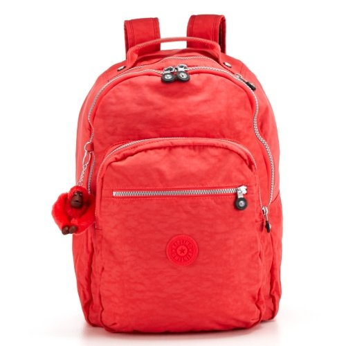 Kipling Seoul Large Backpack With Laptop Protection in Deep Neon Pink