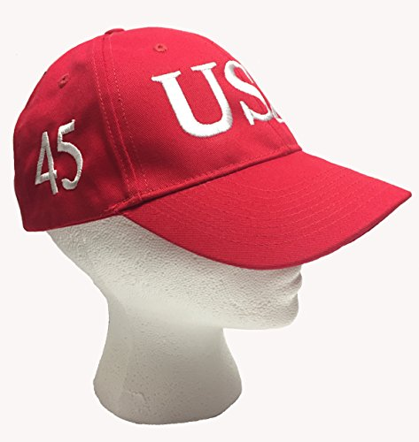 trump-45-president-red-hat-with-white-embroidery-100-cotton-inauguration-cap-adjustable-imported