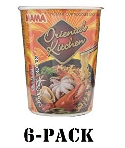 Mama Cup Instant Noodles Oriental Kitchen Spicy Seafood Flavour 65g 6-pack by Mama