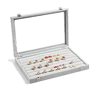 Valdler vetro coperchio scatola espositore display - Scatola porta orecchini ...