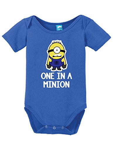 One in a Minion Onesie Funny Bodysuit Baby Romper Royal 6-12 Month (Minion Baby Shower compare prices)