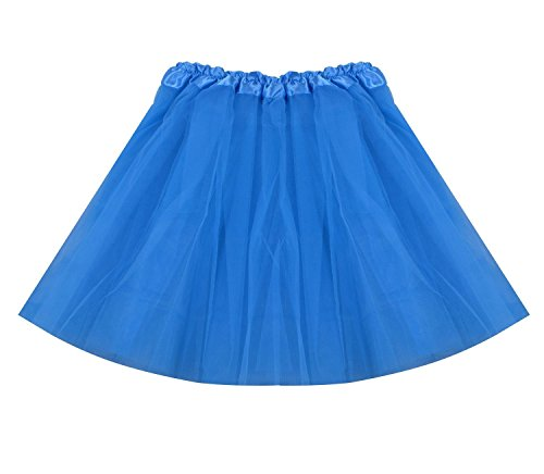 [SUNNYTREE Blue Tutu Skirt Women Dress Party Tulle Dance Ballet Costume Blue] (Best 80s Character Costumes)