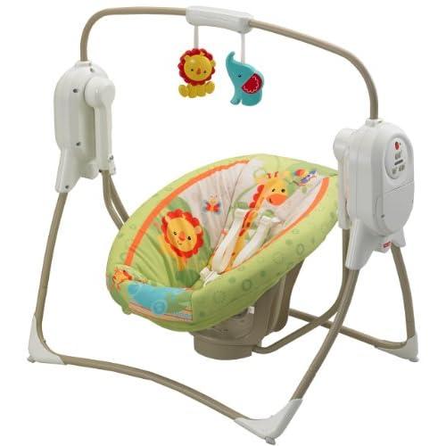 Fisher-Price Rainforest SpaceSaver Cradle-n-Swing