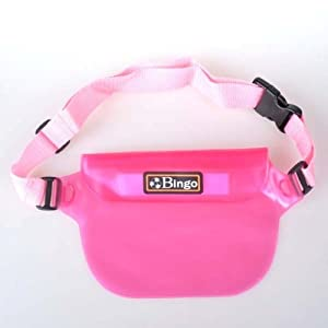Buy BestDealUSA Pink Underwater Camera Phone Waterproof Waist Case Bag by BestDealUSA