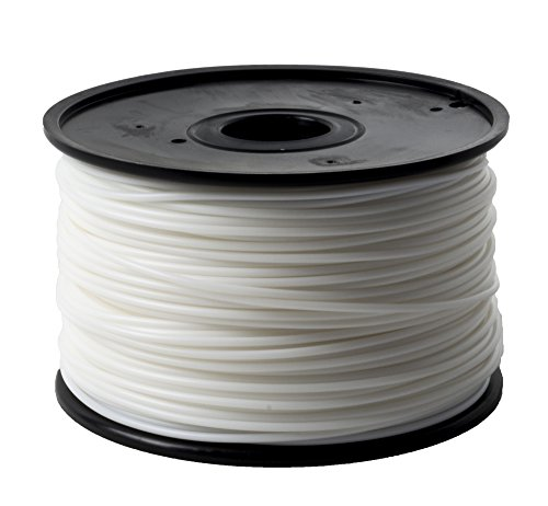 Jet - ABS (1.75mm, White color, 1.0kg =2.204lbs) Filament on Spool for 3D Printer MakerBot RepRap MakerGear Ultimaker & Up!