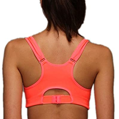 LISWIC Women's Level 3 High Impact Zip Front Sports Bra(Armband Case as Gift)