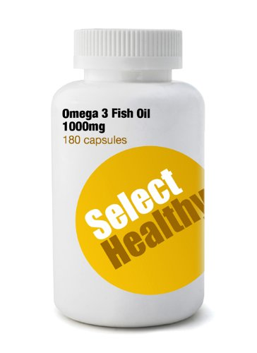 Omega 3 Fish Oil 1000mg (360 capsules) - Cheapest in UK - Money Back Guarantee!