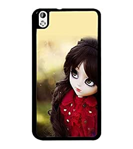 PrintDhaba Cute Doll D-1020 Back Case Cover for HTC DESIRE 816 (Multi-Coloured)
