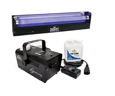 "CHAUVET NV-F18 18"" UV Black-Light + DJ H700 Fog Machine by CHAUVET"